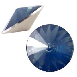 1x BQ quality 1122- Rivoli puntsteen12 mm Montana blue opal ca. 12 mm (1122)