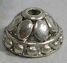 10 stuks tibetaans zilveren kralenkapjes 7,8 xmm diameter gat: 1,2mm