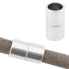1 x DQ metaal magneetslot Ø6.2mm Antiek zilver