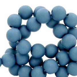 50 x 4 mm acryl kralen matt Steel blue