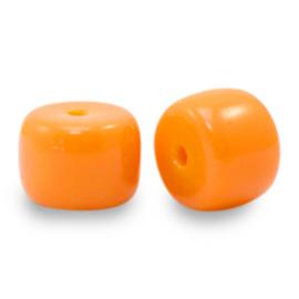 20 x rondellen glaskralen Orange  6mm