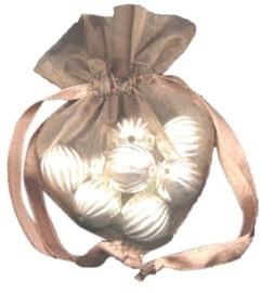 20 stuks luxe hartvormige organza zakjes 10cm x 8.75cm bruin