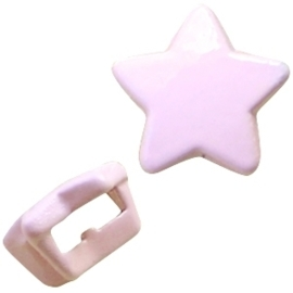 2 x Chill metalen schuiver ster Pastel roze  5mm