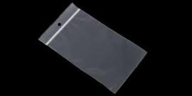 100 stuks kleine gripzakjes 40 x 60mm  50 micron ponsgat 5mm