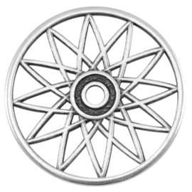 DQ metalen dreamcatcher hanger Antiek zilver (nikkelvrij)
