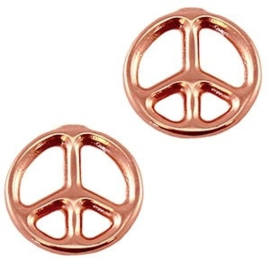 1x DQ Bedel Peace Rose Gold 24x19 mm