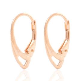 2 stuks TQ metaal oorbellenhaakjes  met 1 oog sluitbaar ovaal Light rosegold