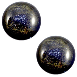 1 x 12 mm classic cabochon Polaris Elements Stardust Midnight blue