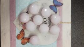 10 stuks schiterende facetkralen 12mm opal pink