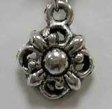 10 stuks Tibetaans zilveren bedeltjes 11,5mm gat: 1,5mm