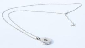 Lange ball chain ketting voor 1 drukker 18/20 mm