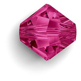 10 x Swarovski kristal bicone 8mm Fuchsia
