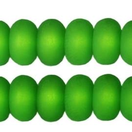Per stuk Polaris kralen matt disc 8 mm Fern green