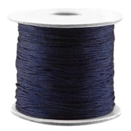 Per 5 meter Macramé draad Dark blue 0,7 mm
