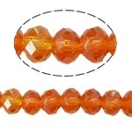 10 x Briolette kraal 10 x 8mm gat 1,5mm dark orange