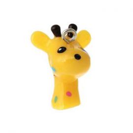 2 x Kinderkralen Bedel Giraffe geel 28x21 mm