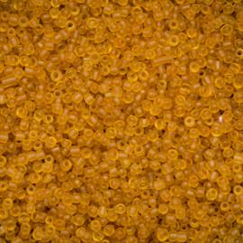 Zakje mooie rocailles c.a. 20 gram 12/0 2mm frosted goud bruin