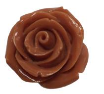 2 x roosjes kraal 18 mm baksteen rood