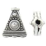 Prachtige Tibetetaans zilveren verdeler 3:1 9,5 x 11 x 5mm gat: 1mm