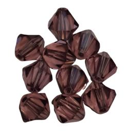 10 x Oud Roze Bicone kistal kralen 12 x 12 mm, gat 1,6 mm