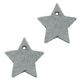 1 x DQ leer hangers ster 25mm Grey