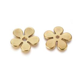 10 stuks kralenkapjes Tibetaans Zilver, goud koper kleur 21 x 1,5MM Gat: 2,5mm