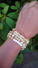 Armbandenset zacht zomers geel ♥