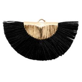 Kwastjes hanger Gold-black
