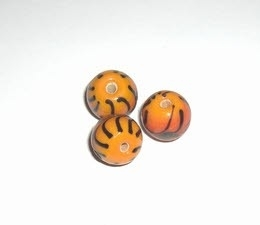 10 x Glaskraal rond 11mm oranje