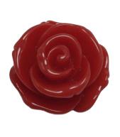 2 x Roosjes kralen Rood 22 mm Gat: 1,7 mm