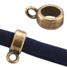 2 x DQ metaal ring met oog 8 x 4 mm Antiek brons Ø 5.7 mm