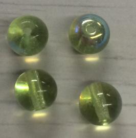 10 Stuks groene glazen kralen 11 mm gat 1 mm
