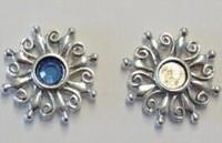 Per stuk Antiek zilveren metalen hanger rond 24 mm zonder steen