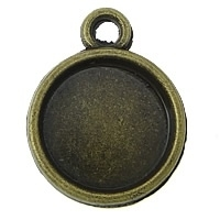 6 x Houder Y: Prachtige Camée of Cabochon houder binnenzijde 10mm