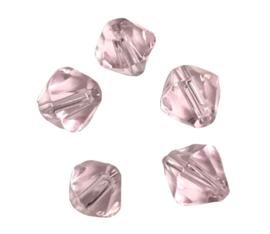 20 x Pesciosa bicone kristal kralen 4 mm gat 1 mm licht roze