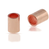 150 stuks rose gold knijpkralen buismodel 2mm doorsnede 1,5mm