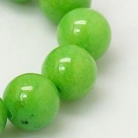 10 x  Kraal van  Mashan Jade appel groen 6mm