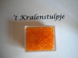 Rocailles in een doosje c.a. 20 gram oranje 909125