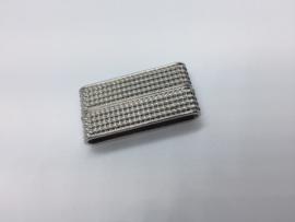 1 x platinum magneet sluiting; 38 mm x 19 mm x 7 mm Binnenmaat; 34 mm