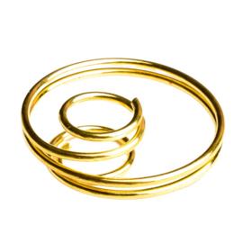 4 x kralen kooitjes frame of spiraalkraal 22 x 5mm goudkleur