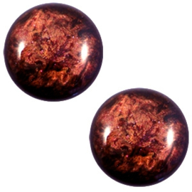 1 x 12 mm classic cabochon Polaris Elements Stardust Port royale red