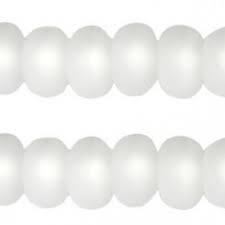 Per stuk Polaris kralen matt disc 8mm Bianco Wit