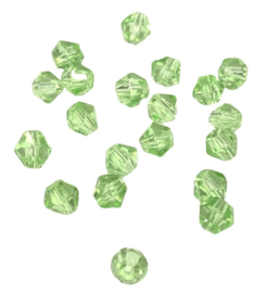 20 x Pesciosa bicone kristal kralen 4 mm gat 1 mm groen