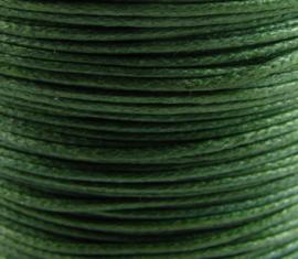10 meter waxkoord 1,5mm dik kleur:  Mos groen