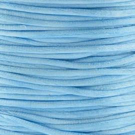2 meter Macrame Satijndraad 1.0 Pale Blue