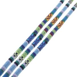 20 cm Trendy gestikt koord 6mm blauw