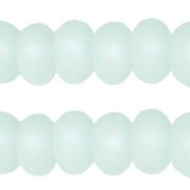 Per stuk Polaris kralen matt 8 mm disc Light azore groen