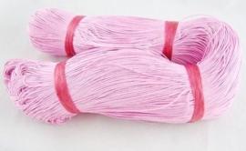 10 meter waxkoord 1,5mm dik kleur: licht roze