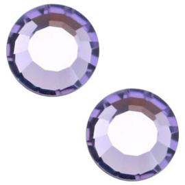 10 x  Swarovski paars plat strass steentje 5mm