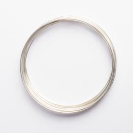 Memory Wire voor armbanden zilverkleurig 40 wendingen diameter 56mm dikte: 0,6mm